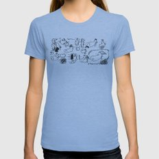 Doobles Womens Fitted Tee Athletic Blue SMALL