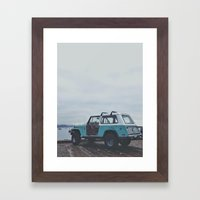 Mild colored truck Framed Art Print