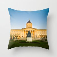 Winnipeg, MB, Canada Throw Pillow