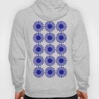 Vintage Flower Blue Hoody