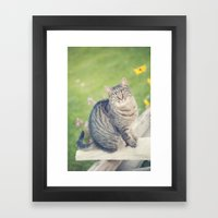 In A Past Life... Framed Art Print