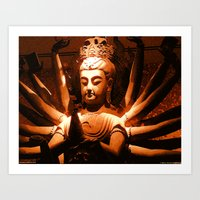 durga, indian goddess Art Print