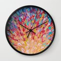 SPLASH - WOW Dash of Cheerful Color, Bold Water Waves Theme, Nature Lovers Modern Abstract Decor Wall Clock