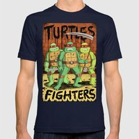 TURTLES FIGHTERS Mens Fitted Tee Navy SMALL