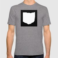 O-H-I-O Mens Fitted Tee Tri-Grey SMALL