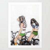 SKATER GIRLS - PART 2 - THE GIRLS Art Print