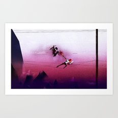 Ninja vs Pirate Art Print