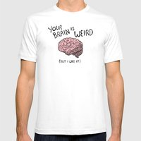 Weird Brain Mens Fitted Tee White SMALL