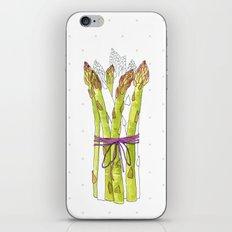 asparagus and mushrooms iPhone & iPod Skin