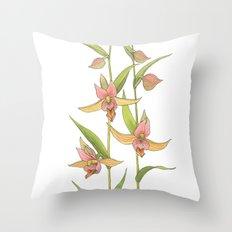 Stream Orchid - Epipactis gigantea Throw Pillow