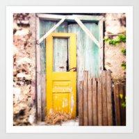 Yellow Door  Art Print