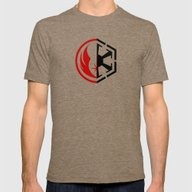 The Dark And The Light Mens Fitted Tee Tri-Coffee SMALL