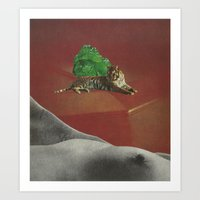 Tiger In The Land Of Dre… Art Print