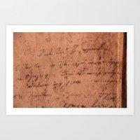 Manuscript Art Print