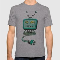 Edna TV Mens Fitted Tee Athletic Grey SMALL