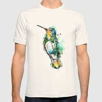 Emerald Hummer Mens Fitted Tee Natural SMALL