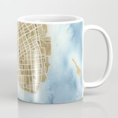 Charleston, South Carolina City Map Art Print Mug