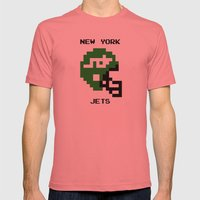 Old School New York Jets Mens Fitted Tee Pomegranate SMALL
