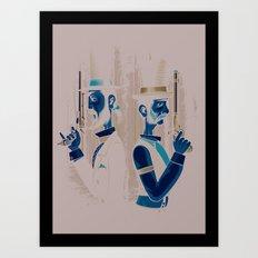 Pistols At Dawn Art Print