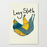 Lazy Sloth Canvas Print