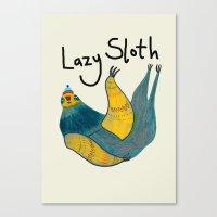 Lazy Sloth Canvas Print