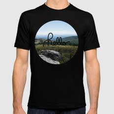 hello world Mens Fitted Tee Black SMALL