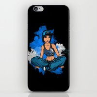 Headphone Girl iPhone & iPod Skin