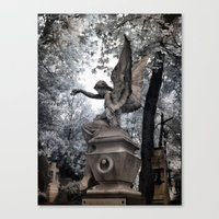 Cemetery Angel - Infrare… Canvas Print