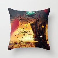 The Last Autumn Throw Pillow