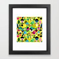 Geomonsters Framed Art Print
