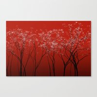 Trees Redwine Canvas Print