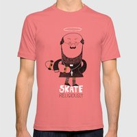 Skate Religiously Mens Fitted Tee Pomegranate SMALL
