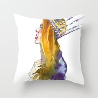 Fashion - Ice Queen Throw Pillow