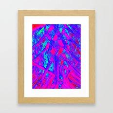 Hot Pink Palm Framed Art Print