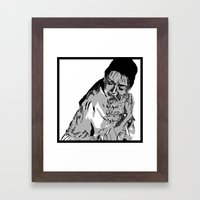 I'm like cat here, a couple of no-name slobs Framed Art Print
