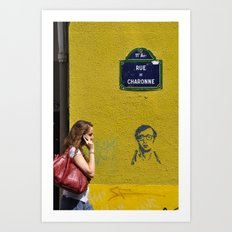 Woody's on a wall Art Print