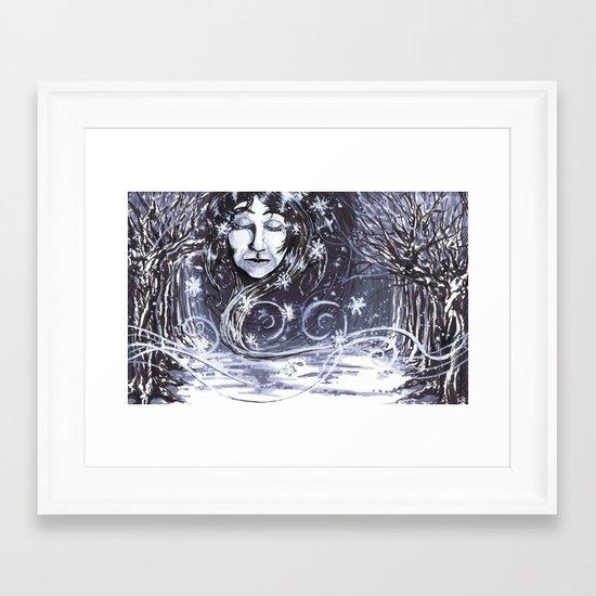 """50 Words for Snow"" by Cap Blackard Framed Art Print"