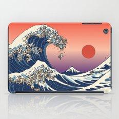 The Great Wave of English Bulldog iPad Case