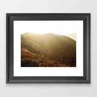 big sur cliffs Framed Art Print