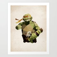Polygon Heroes - Michela… Art Print