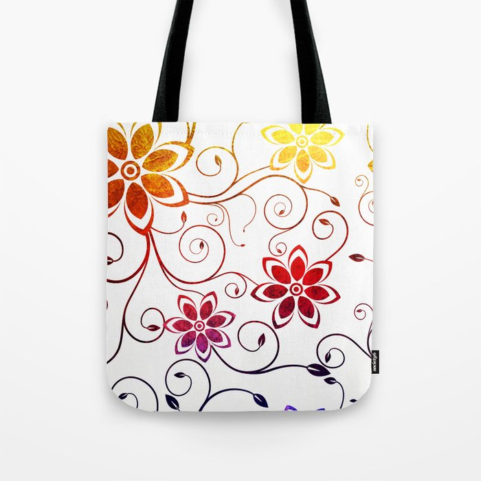 Bright Floral Design Tote Bag by Samantha Lynn Society6