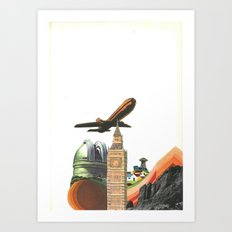 Leaving MoMo City Art Print