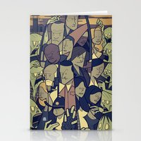 walking dead Stationery Cards featuring The Walking Dead by Ale Giorgini