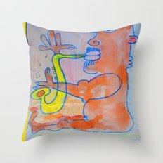 Free Jazz Throw Pillow