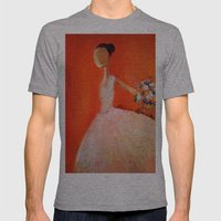 Ballerina Mens Fitted Tee Athletic Grey SMALL