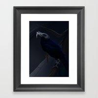 Black hell Framed Art Print