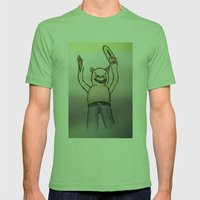 Killer cat Mens Fitted Tee Grass SMALL