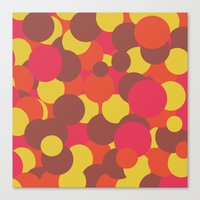 Autumn Retro Circles Design Canvas Print