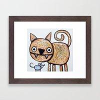 Secret Meeting Framed Art Print