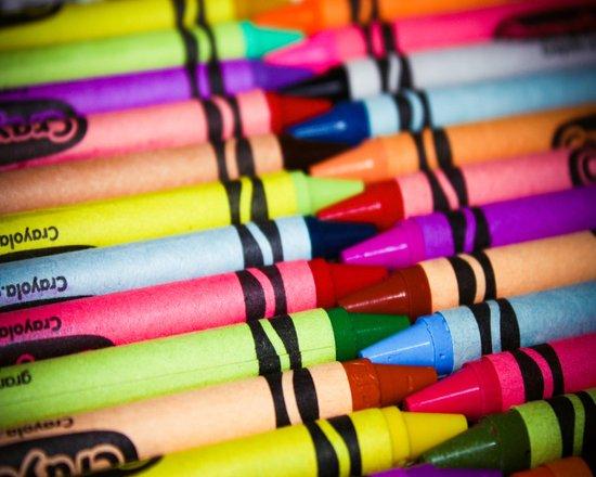 Rainbow of Crayons Canvas Print